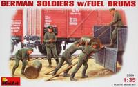 German Soldiers w/Fuel Drums 1/35