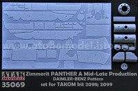 Zimmerit Panther A Late Daimler-Benz Pattern (Takom kit) 1/35
