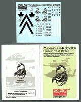 Canadian Leopard C2A1 MEXAS markings 1/35