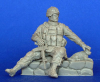 Modern American soldier with cat 1/35