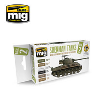 WWII European Theater Sherman Tanks Paint Set
