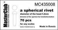 spherical rivet head diameter 1.2mm