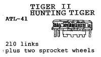 Tiger II / Jagdtiger tracks & sprockets 1/35