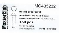 Polish Cone-head Bullet proof Bolt 0.7mm 150 pcs
