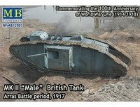"MK II ""Male"" British Tank, Arras Battle period 1/72"