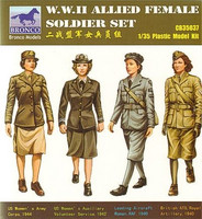 WWII Allied Female Figure Set 1/35