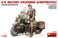 U.S. Military Policeman with Motorcycle 1/35