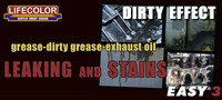 "Dirty Effect Leaking and Stains ""Grease Dirty, Grease-Exhaust Oil"""