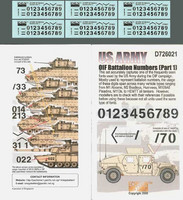 US Army OIF Battalion Numbers (Part 1) 1/72