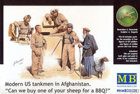 Modern US tankmen in Afganistan 1/35