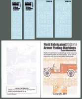 Field Fabricated Armor Plating Markings - Large Alphanumerics 1/35