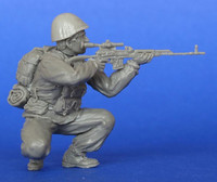 Russian soldier with Dragunov SVD Sniper Rifle and M68 helmet . Afghanistan 1/35