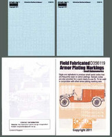 Field Fabricated Armor Plating Markings - Small Alphanumerics 1/35