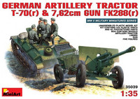 German Artillery Tractor T-70(r) and 7,62cm Gun Fk288(r) 1/35