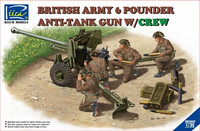 British Army 6pdr Anti-Tank Gun with Crew 1/35
