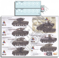 Sandback protected Shermans of the 14th Armored Division 1/35