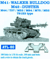 M-41 Walker Bulldog, M-42 Duster, M44,T37,M53,M84,M75,M-52,T91E3 Tracks 1/35