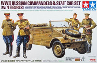 Russian Commanders & Kubelwagen Staff Car with 4 Figures 1/35