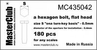 "A Hexagon flat bolt head, Size S ""on A Turn-Key basis""-0.5mm"