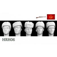 5 Heads Soviet Ushanka Caps 1/35