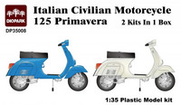 Italian Civil Motorcycle Vespa Primavera 1/35