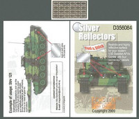 Silver Reflectors for Modern Swedish AFVs 1/35