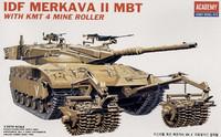 Merkava II with mine plough