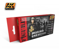 Panzer Crew Black Uniforms Paint Set (6 sävyä)