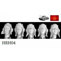 5 Heads Soviet Postwar AFV Helmets 1/35