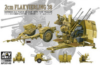 2cm Flakvierling 38 With Towing Trailer 1/35