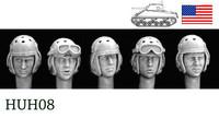 5 Heads US Tank Crew WWII 1/35