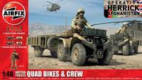 British Quad Bikes & Crew 1/48