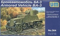 BA-3 Soviet Armored Car (Railway Version) 1/72