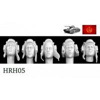 5 Heads Soviet WW2 Tank Helmets 1/35