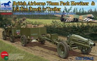 British Airborne 75mm Pack Howitzer and 1/4 ton Truck with Trailer