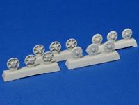 Steel return rollers for StuG III (Pattern A) 1/35
