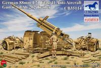 German 88mm L71 Flak 41 Anti-Aircraft Gun w/Sd.Ah.202 Trailer 1/35