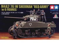 M4A2 76mm Sherman Red Army with 6 Figures 1/35