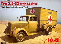 Typ 2,5-32 with Shelter WWII German Ambulance Truck 1/35