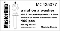 """A nut on A washer, Size S """"on A Turn-Key basis"""" - 1.2mm"""