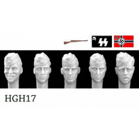 Heads German Heads with Side Caps 1/35
