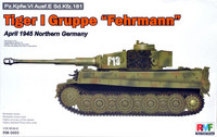 Tiger I Gruppe Fehrmann, April 1945 Northern Germany 1/35