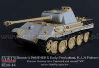 Zimmerit Panther G Early Prod. M.A.N Pattern Warzaw Uprising 1944 Capured and Named WP (Tamiya kit) 1/35