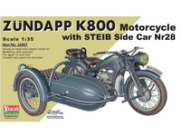 Zundapp K800 Motorcycle with Steib Sidecar Nr28 1/35