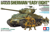 "M4A3E8 Sherman ""Easy Eight"" with 4 Figures 1/35"
