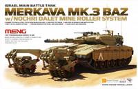 Merkava Mk.3 BAZ with Nochri Dalet Mine Roller System 1/35