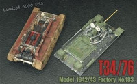 T34/76 1943 transparent hull and turret 1/35