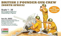 British 2 Pdr Gun Crew (North Africa) 1/35