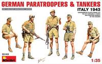 German Paratroopers & Tank Crew Italy 1943 1/35