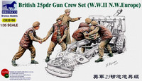 British Army 25Pdr Gun Crew Set 1/35